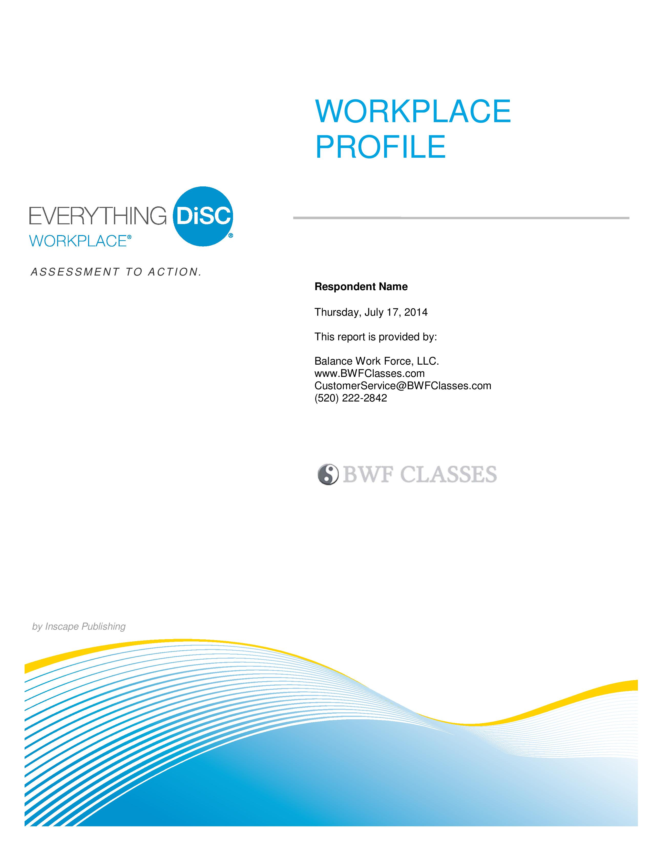 company cover page
